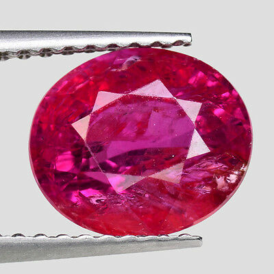"""NO HEAT! 3.19cts Rich Red Oval Natural Red Ruby Loose Gemstone """"SEE VIDEO"""""""