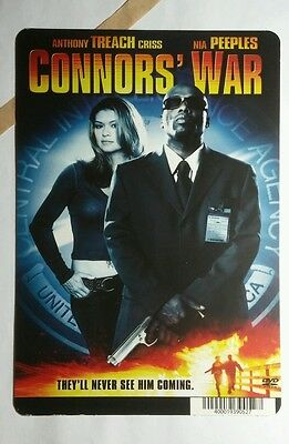 CONNOR'S WAR ANTHON CRISS NIA PEEPLES MINI POSTER BACKER CARD (NOT a dvd movie )