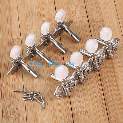 Mandolin Machine Heads Tuners Tuning Pegs 4L 4R Nickle plated Steel Set