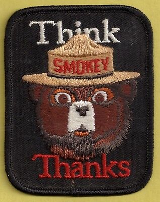 US Forest Service NEW Collectible Think Thanks Smokey Bear Fire Fighting Patch