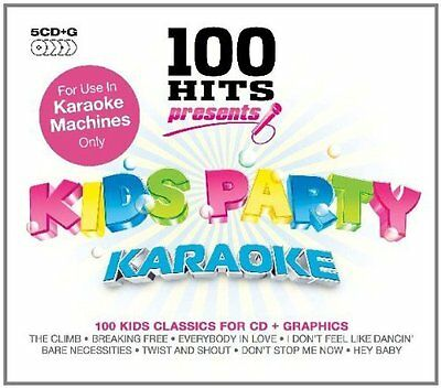 100 Hits Presents Kids Party Karaoke Cdg 5 Disc Pack Brand New Sealed 100 Tracks