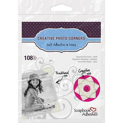 3L Scrapbook Adhesives Ivory Classic Scrapbook Photo Corners