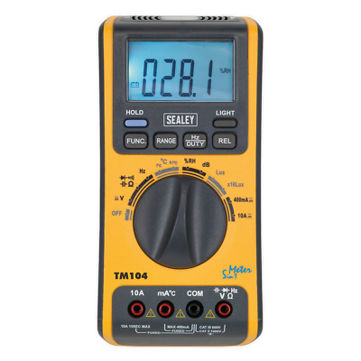 NEW! Digital Multimeter Humidity Sound Level LUX Temperature Light Diode