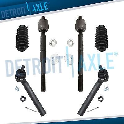 New 6pc Front Inner and Outer Tie Rod End Kit for Lexus RX330 Toyota Highlander