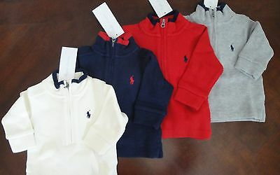 NWT Ralph Lauren Infant Boys French Rib Cotton Sweater 3m 6m 9m 12m 18m 24m NEW