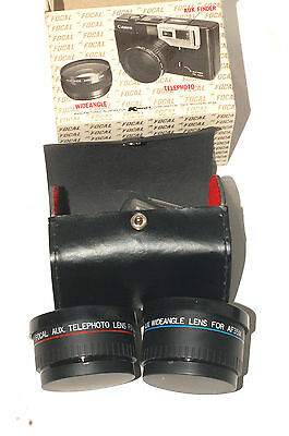 Telephoto and Wide Angle Auxiliary Lens Set for Canon Sure Shot Camera