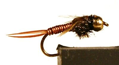 ICE FLIES Nymph. Copper John . (4-pack). Available in size 8 - 16