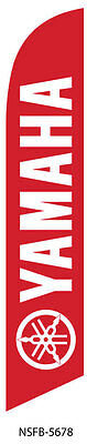 Yamaha Motorsports (red) Advertising 12ft Feather Banner Swooper Flag -FLAG ONLY
