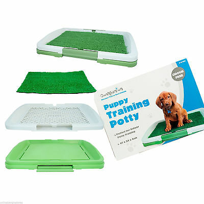 Puppy Potty Training Pad Mat Pet Toilet Trainer Set Dog Litter Tray Indoor House