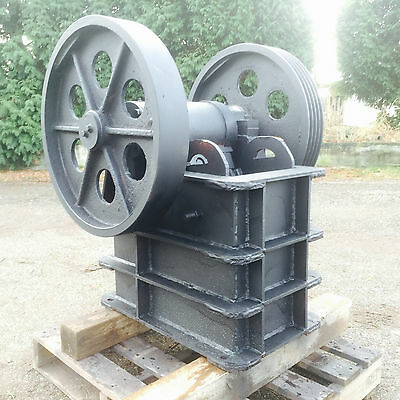 "6"" x 10"" Jaw Crusher for gold mining, granite, concrete, gravel, rock crushing,"
