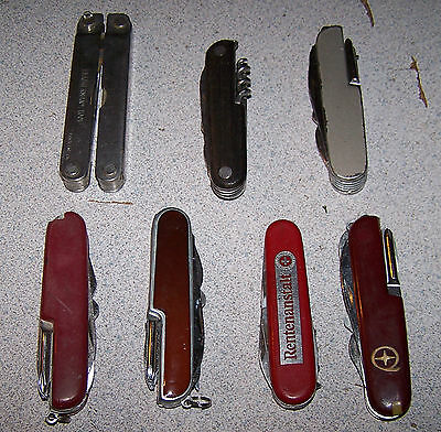 LOT OF 7 VINTAGE POCKET FOLDING KNIVES   # 2-4 -1