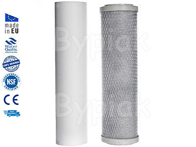 "Set Of 5 Micron Sediment Filter 10"" & Carbon Block Reverse Osmosis Replacement"