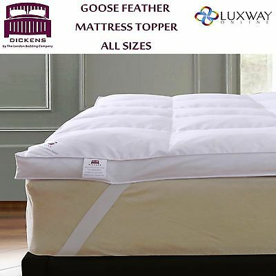 5cm GOOSE FEATHER & DOWN MATTRESS TOPPER ALL SIZES - 85% GOOSE FEATHER 15% DOWN