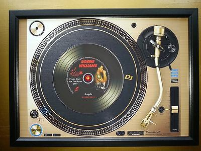 ROBBIE WILLIAMS Promo copy playing on A turntable CD Memorabilia Frame,Angels