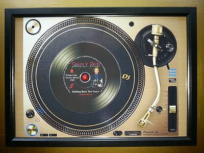 SIMPLY RED Promo copy playing on A turntable CD Memorabilia Frame,Mick Hucknall