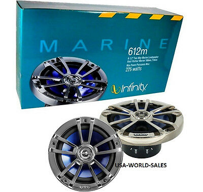 "New Infinity Reference 612M 450W 6.5"" Marine Boat 2-Way Car Speakers 6-1/2"" Pair"