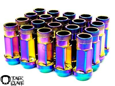 Z Neo Chrome Steel 48Mm Lug Nuts Open Extended 12X1.25Mm 20Pcs Key For Nissan