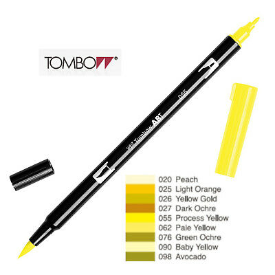 Tombow Dual Brush Pen  ABT 020 to 098  Yellow shade
