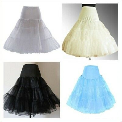 "Short Retro Underskirt/Petticoat/Crinoline /Skirt Slip  Length-26"" Regular/Plus"
