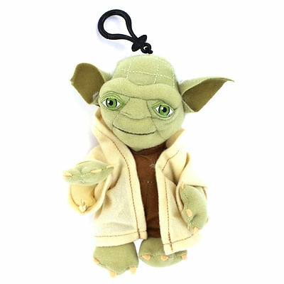 "Star Wars - YODA Plush Toy Bag Clip Key Chains Coin Bag Clip On 8"" Soft Plush"