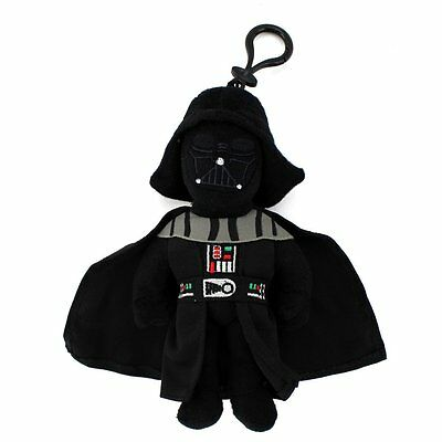 "Star Wars - Darth Vader Toy Bag Clip Key Chains Coin Bag Clip On 8"" Soft Plush"