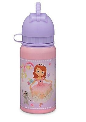 AUTHENTIC DISNEY Sofia The First and Amber Aluminum Water Bottle NWT