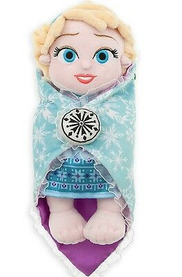 AUTHENTIC DISNEY Babies Elsa Baby  Plush with Blanket Frozen 10''/25.4cm NWT