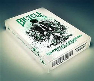 Bicycle Karnival Assassins Deck - Green - Playing Cards - Magic Tricks - New
