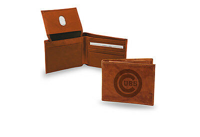Chicago Cubs STANDARD Authentic Embossed Leather Billfold Wallet MLB