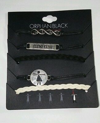 Orphan Black Lot Of 5Pcs Clone Club Dna Helix Cord Cuff Bracelet New In Package