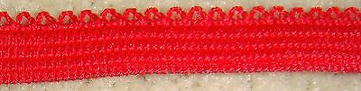 Elastic Made in Canada 10 yards Red for $1.98