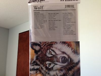 BOB ROSS Wildlife How To Packet WOLF Pattern Directions *NEW