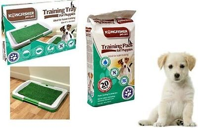 Dog Puppy Pet Litter Toilet Training Tray Artificial Grass, Odourless Potty Pads