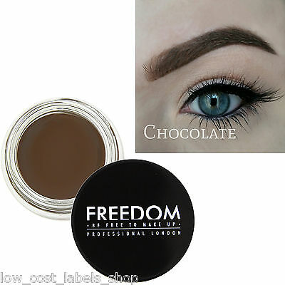 Freedom Makeup Eyebrow Definition Gel HD Brows - Pro Brow Pomade Chocolate Brown