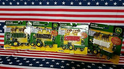JOHN DEERE Diecast Farm set Agriculture Great Gift Idea Play Collectibles