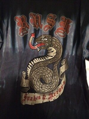 Rush Snakes And Arrows Concert Tour T-Shirt Size Large New