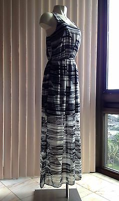 Women S Teenplo Black And White Striped Tank Top Maxi Dress Size