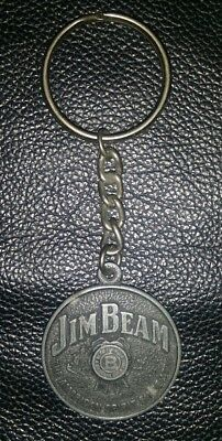 Rare Collectable Jim Beam Metal Keyring In Good Used Condition