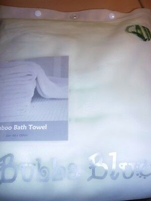 Brand New Bubba Blue Bamboo Bath Towel Baby Towel Lime Soft