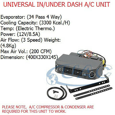 Universal Ac Unit Assembly Kit90  In / Under Dashboard 3 Speed 12V