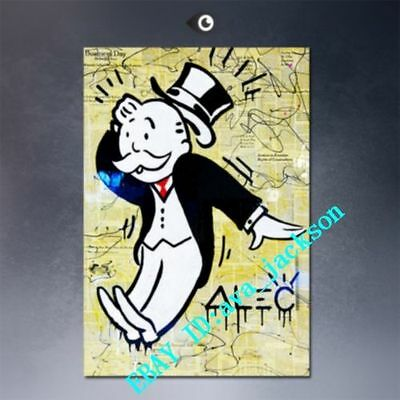 Unframed Hand-painted Portrait Alec monopoly #2 oil painting Art on canvas 24X36