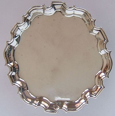 ANTIQUE GEORGE II, ENGLISH STERLING SILVER TRAY, LONDON c1735