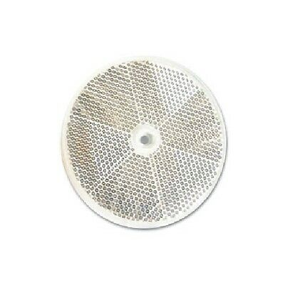 "3"" Inch Round White Clear Reflector Delineator Marker Bicycle Vehicle Button"