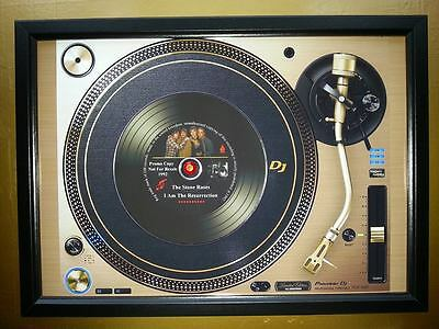 THE STONE ROSES Vinyl Promo copy playing on a turntable CD Memorabilia Frame,New