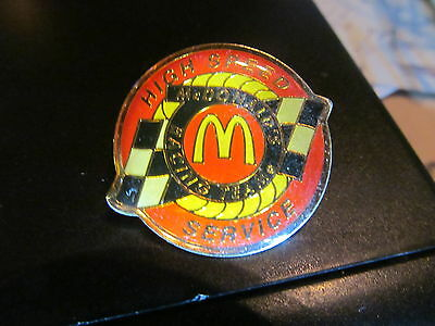 Mcdonalds Racing Team High Spped Service   Pin