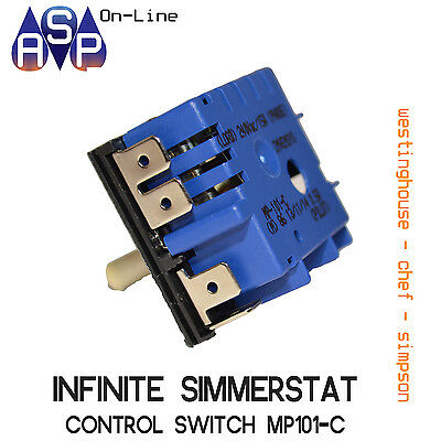 Simmerstat Control Switch Mp101-C Genuine Hotplate Cooktop - 0534001654