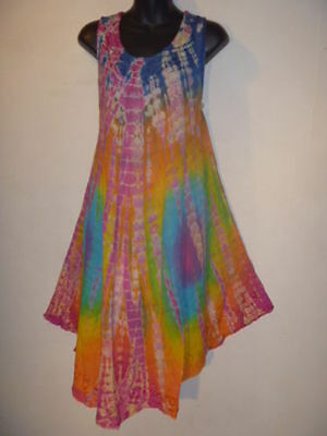 Wholesale Lot 3 Assorted Dress Fit 1X 2X 3X Plus Long Tunic Top Sundress Tie Dye