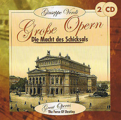 "Giuseppe Verdi "" The Power of the Schicksals "" Great Operas 2 CD Box NIP"