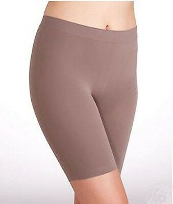 Jockey Skimmies Modern Fit Mid Thigh Stretch Slipshort 2109 Brown Small FREE S&H