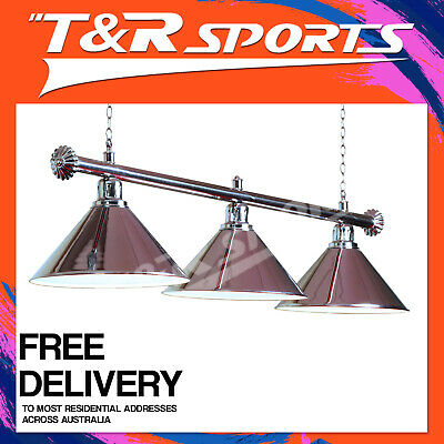Luxury Quality Silver Metal Pool Snooker Table Light + Silver Rail Free Delivery